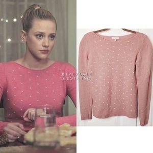Benedetta B. Crew neck pink sweater cashme…